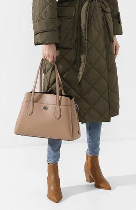 Женская сумка lora COACH бежевого цвета, арт. 88340 | Фото 2