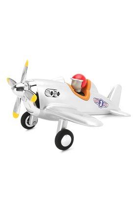 Детского игрушечный самолет BAGHERA серебряного цвета, арт. 485 | Фото 1