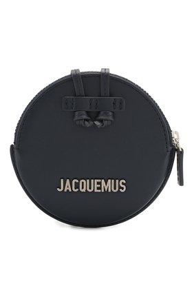 Мужской кожаный кошелек для монет le pitchou JACQUEMUS синего цвета, арт. 205AC22/58390 | Фото 1
