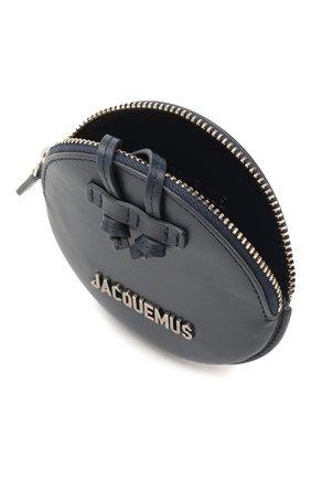 Мужской кожаный кошелек для монет le pitchou JACQUEMUS синего цвета, арт. 205AC22/58390 | Фото 4