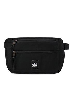 Мужская текстильная поясная сумка BALENCIAGA черного цвета, арт. 618190/H75EX | Фото 1