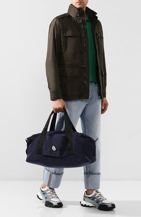 Мужская текстильная дорожная сумка nivelle MONCLER темно-синего цвета, арт. F1-09A-7A700-00-02SCN | Фото 2