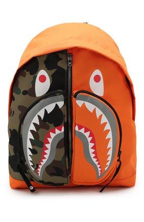 Мужской текстильный рюкзак BAPE оранжевого цвета, арт. 1G30182003   Фото 1