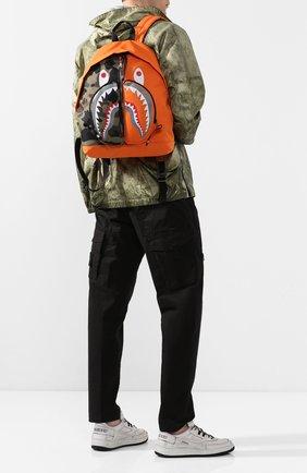 Мужской текстильный рюкзак BAPE оранжевого цвета, арт. 1G30182003   Фото 2