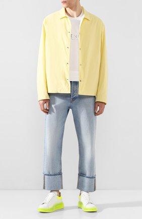 Мужские кожаные кеды ALEXANDER MCQUEEN желтого цвета, арт. 604232/WHX9W | Фото 2