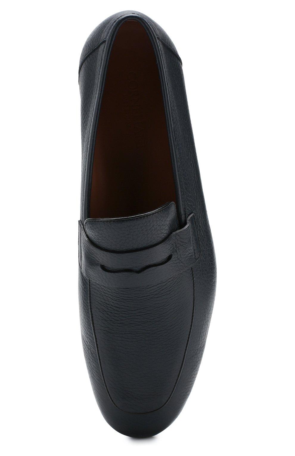 Мужские кожаные пенни-лоферы CORNELIANI темно-синего цвета, арт. 85TM95-0120990 | Фото 5