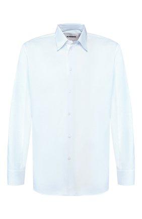 Мужская хлопковая рубашка JIL SANDER голубого цвета, арт. JSMQ740426-MQ24430 | Фото 1