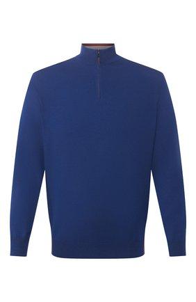 Мужской шерстяной джемпер LORO PIANA синего цвета, арт. FAL0878 | Фото 1