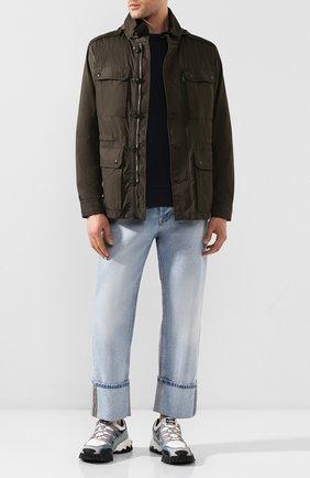 Мужской хлопковый свитшот MONCLER темно-синего цвета, арт. F1-091-8G733-10-8098U | Фото 2