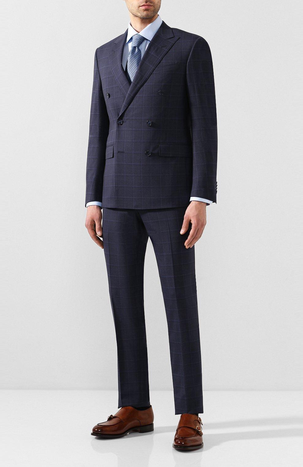Мужской шерстяной костюм CORNELIANI темно-синего цвета, арт. 857224-0117413/92 Q1 | Фото 1