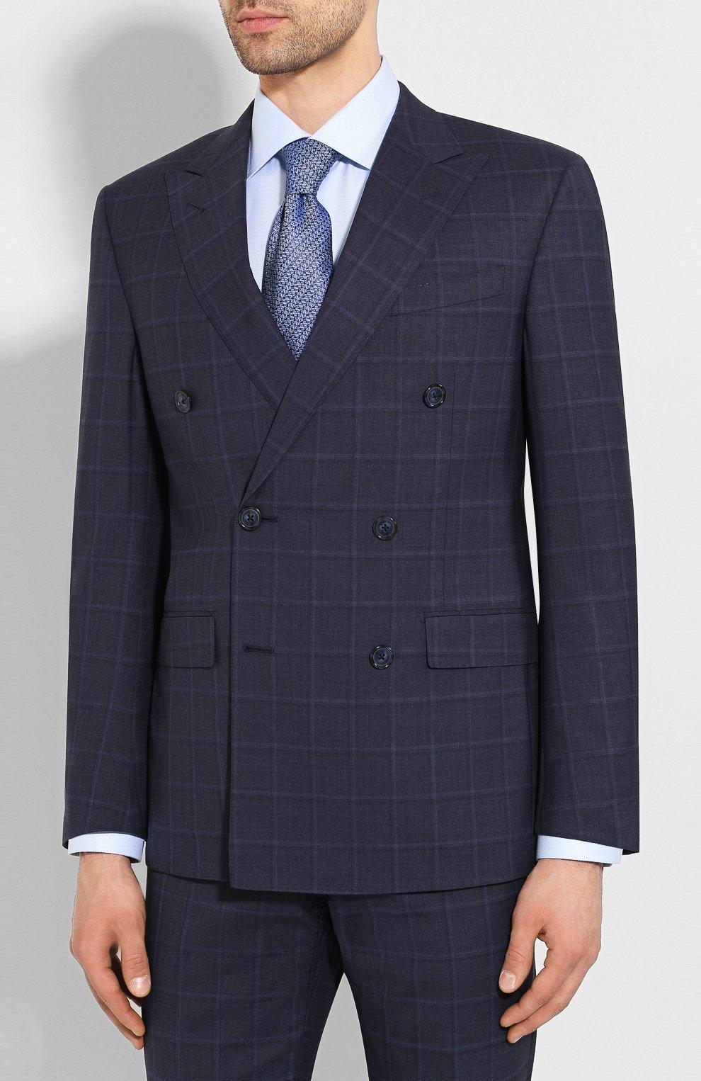 Мужской шерстяной костюм CORNELIANI темно-синего цвета, арт. 857224-0117413/92 Q1 | Фото 2