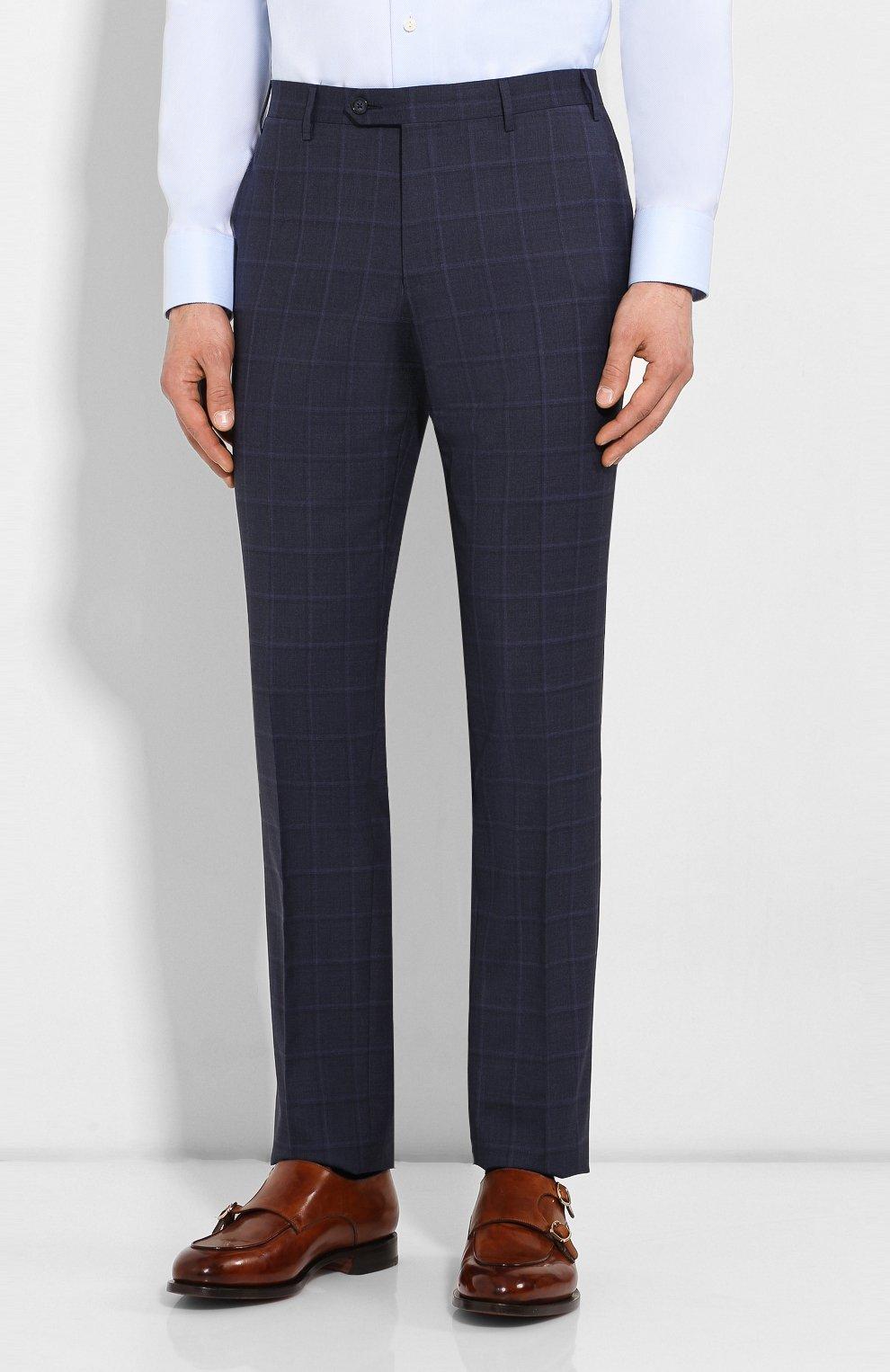 Мужской шерстяной костюм CORNELIANI темно-синего цвета, арт. 857224-0117413/92 Q1 | Фото 4