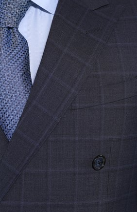 Мужской шерстяной костюм CORNELIANI темно-синего цвета, арт. 857224-0117413/92 Q1 | Фото 6