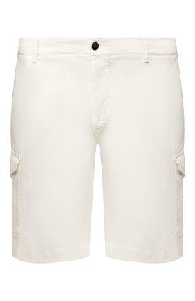 Мужские хлопковые шорты BERWICH белого цвета, арт. BER_MUDA CARG0/TS0001X | Фото 1