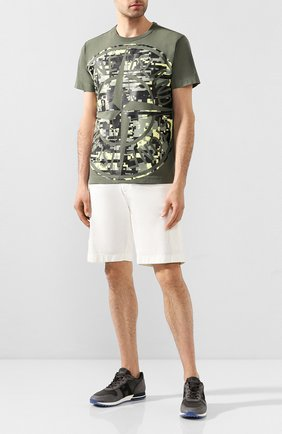 Мужские хлопковые шорты BERWICH белого цвета, арт. BER_MUDA CARG0/TS0001X | Фото 2