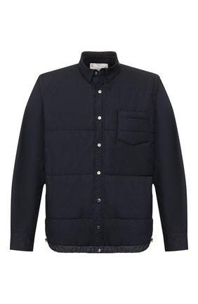 Мужская утепленная рубашка SACAI синего цвета, арт. SCM-025 | Фото 1