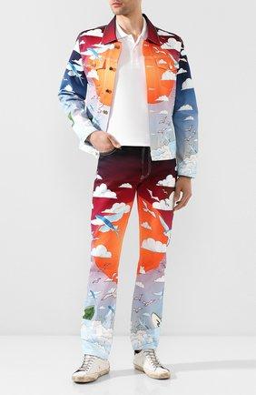 Мужское хлопковое поло COMME DES GARCONS PLAY белого цвета, арт. AZ-T006 | Фото 2