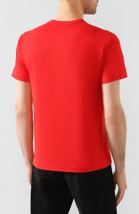 Мужская хлопковая футболка COMME DES GARCONS PLAY красного цвета, арт. AZ-T226 | Фото 4