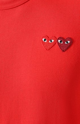 Мужская хлопковая футболка COMME DES GARCONS PLAY красного цвета, арт. AZ-T226 | Фото 5