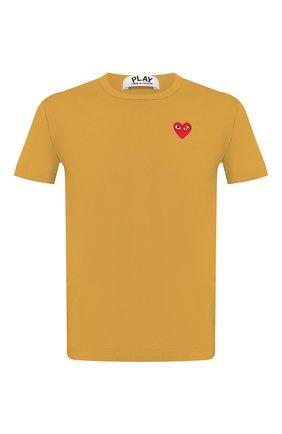 Мужская хлопковая футболка COMME DES GARCONS PLAY желтого цвета, арт. AZ-T212 | Фото 1