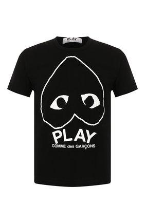 Мужская хлопковая футболка COMME DES GARCONS PLAY черного цвета, арт. AZ-T114 | Фото 1