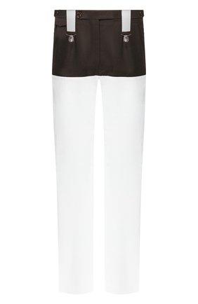 Мужской комбинированные брюки RAF SIMONS белого цвета, арт. 201-343A-20010 | Фото 1