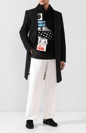 Мужской комбинированные брюки RAF SIMONS белого цвета, арт. 201-343A-20010 | Фото 2