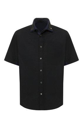 Мужская хлопковая рубашка SACAI черного цвета, арт. 20-02307M   Фото 1