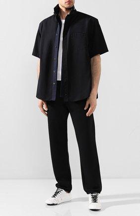Мужская хлопковая рубашка SACAI черного цвета, арт. 20-02307M   Фото 2