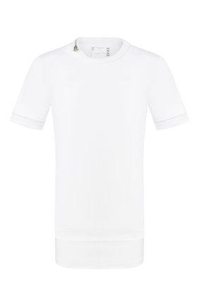 Мужская хлопковая футболка SACAI белого цвета, арт. 20-02243M   Фото 1