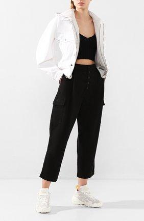 Женские хлопковые брюки J BRAND черного цвета, арт. JB002859 | Фото 2