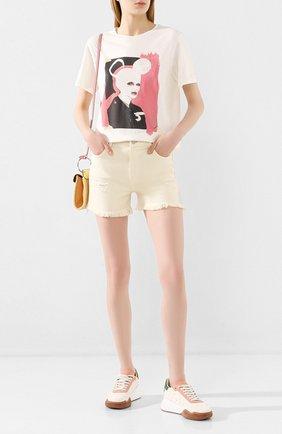 Женские джинсовые шорты J BRAND бежевого цвета, арт. JB002787 | Фото 2