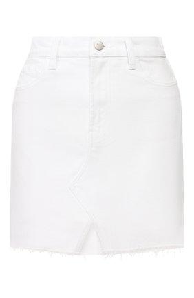 Женская джинсовая юбка J BRAND белого цвета, арт. JB002895 | Фото 1