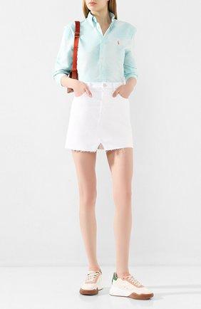 Женская джинсовая юбка J BRAND белого цвета, арт. JB002895 | Фото 2