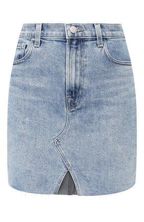 Женская джинсовая юбка J BRAND синего цвета, арт. JB002809 | Фото 1