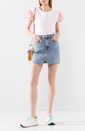 Женская джинсовая юбка J BRAND синего цвета, арт. JB002809 | Фото 2