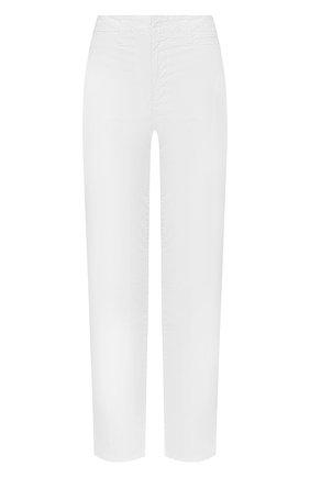 Женские хлопковые брюки J BRAND белого цвета, арт. JB002806 | Фото 1