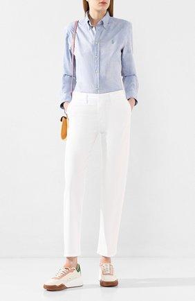 Женские хлопковые брюки J BRAND белого цвета, арт. JB002806 | Фото 2