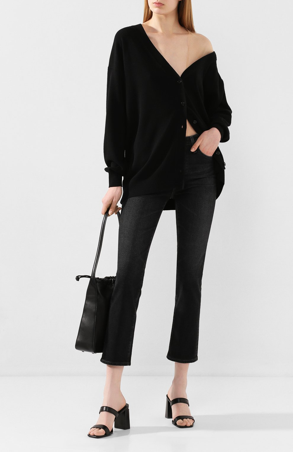 Женские джинсы AG серого цвета, арт. STS1782/05YRSV | Фото 2