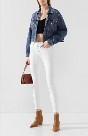 Женская джинсовая куртка AG синего цвета, арт. LGN4471/90HER0 | Фото 2