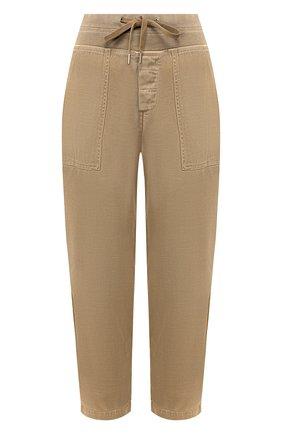 Женские хлопковые брюки JAMES PERSE хаки цвета, арт. WACS1862 | Фото 1