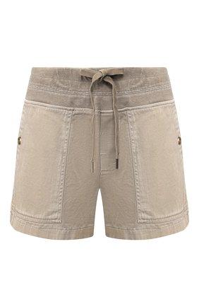 Женские хлопковые шорты JAMES PERSE хаки цвета, арт. WACS4271 | Фото 1