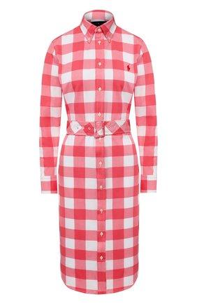 Женское хлопковое платье POLO RALPH LAUREN красного цвета, арт. 211792204 | Фото 1