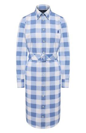 Женское хлопковое платье POLO RALPH LAUREN синего цвета, арт. 211792204 | Фото 1
