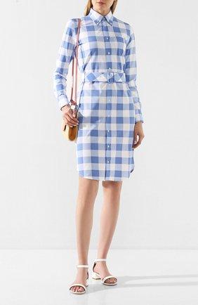 Женское хлопковое платье POLO RALPH LAUREN синего цвета, арт. 211792204 | Фото 2