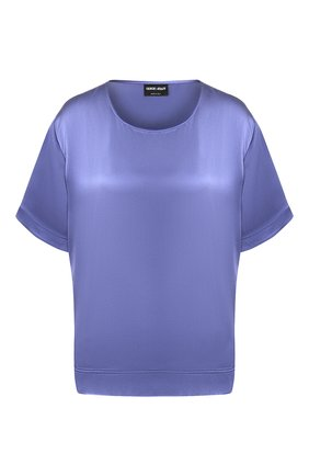 Женская шелковая блузка GIORGIO ARMANI синего цвета, арт. 0SHCCZ20/TZ487 | Фото 1