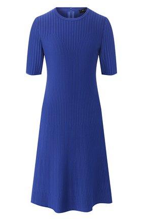 Женское платье из вискозы ST. JOHN синего цвета, арт. K11Z042 | Фото 1