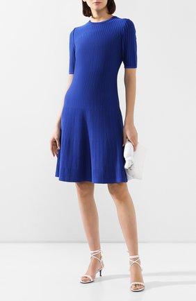 Женское платье из вискозы ST. JOHN синего цвета, арт. K11Z042 | Фото 2