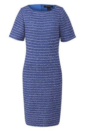 Женское платье из смеси шерсти и вискозы ST. JOHN синего цвета, арт. K11Z062 | Фото 1