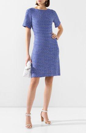 Женское платье из смеси шерсти и вискозы ST. JOHN синего цвета, арт. K11Z062 | Фото 2